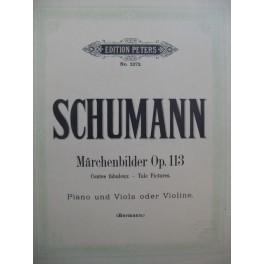 SCHUMANN Robert Marchenbilder op 113 Piano Alto ou Violon