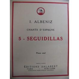ALBENIZ Isaac Seguidillas op 232 n°5
