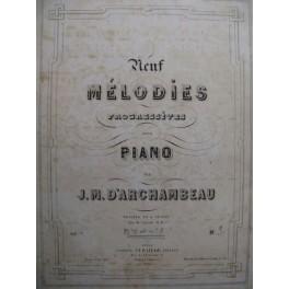 D'ARCHAMBEAU Jean-Michel 9 mélodies op7
