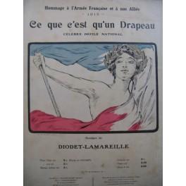 LA MAREILLE Ce que c'est qu'un drapeau Chant Piano 1915