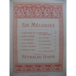 HAHN Reynaldo L'Incrédule Chant Piano ca1894