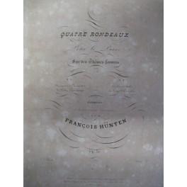 HÜNTEN François 2 rondeaux ca1830