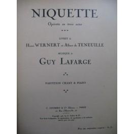 LAFARGE Guy Niquette Opéra Chant Piano 1931
