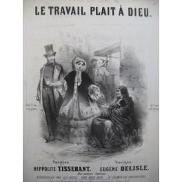 DELISLE Eugène Le Travail plait à Dieu Chant Piano XIXe