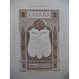 CHABRIER Emmanuel Espana Piano 4 mains ca1883