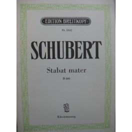 SCHUBERT Franz Stabat Mater Chant Piano