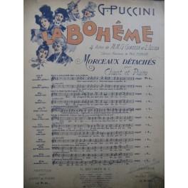 PUCCINI Giacomo La Bohème No 3 Piano Chant 1900