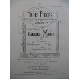 GABRIEL Marie Sérénade Badine Piano Violon 1886