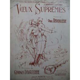 DAGUERRE Georges Voeux Suprêmes Chant Piano 1916