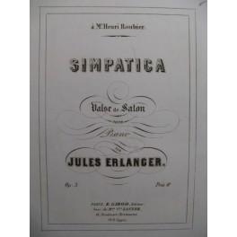ERLANGER Jules Simpatica op 3
